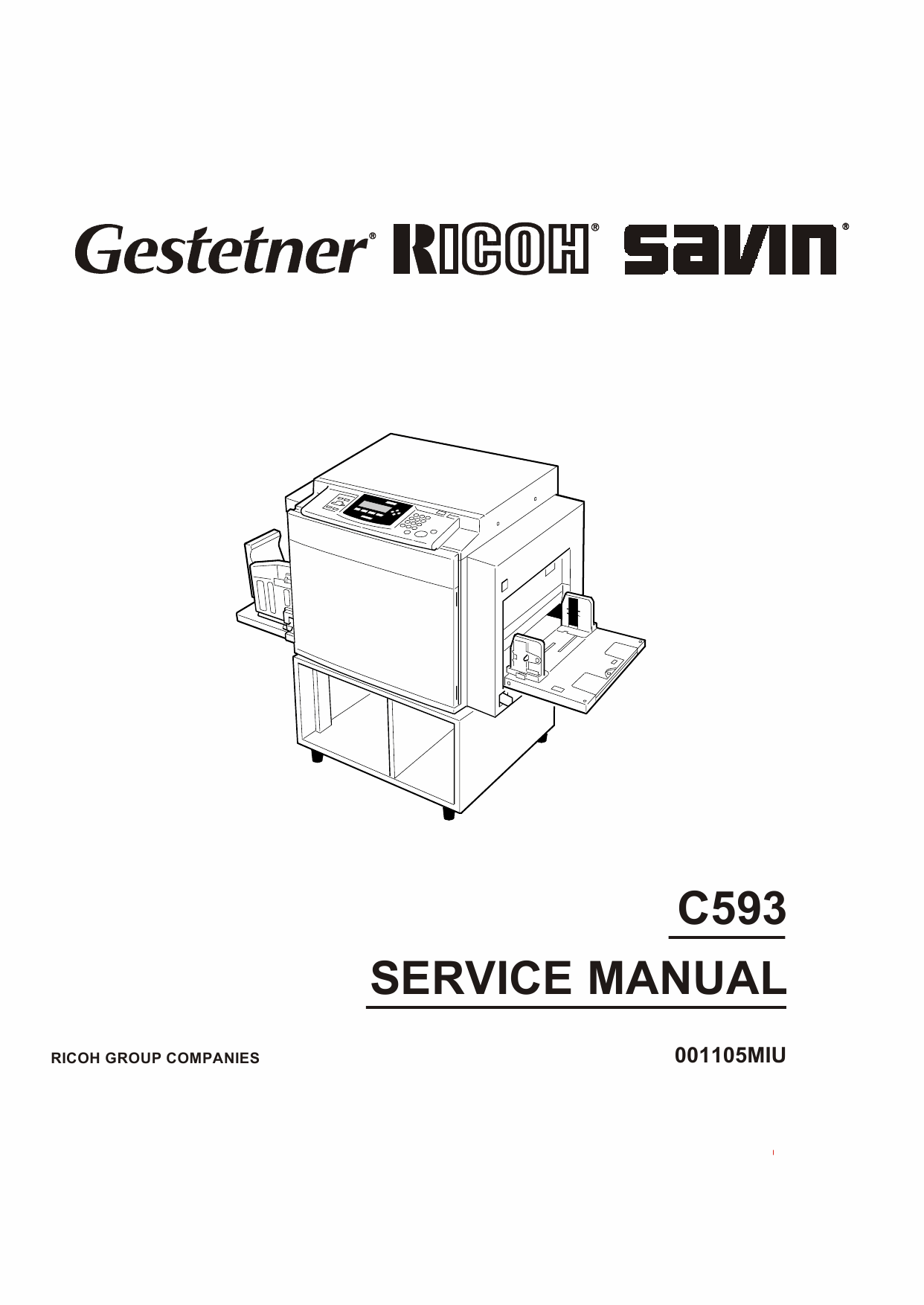 RICOH Aficio TC-II C593 Service Manual-1